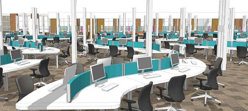 Call centre design to increase staff productivity for Office design productivity research